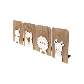 WOODEN BOOKEND 17*12.5*1.5CM SL-6243