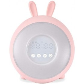 ALARM CLOCK WITH LAMP PINK LJC-128