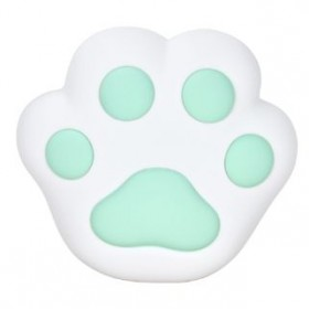 SILICONE CAT PAW LED LAMP GREEN LJC-134