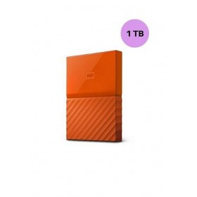 WESTERN DIGITAL HARD DISK 1TB MY PASSPORT ORANGE