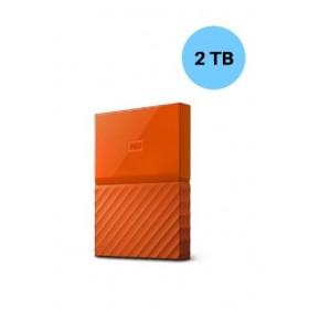 WESTERN DIGITAL HARD DISK 2TB MY PASSPORT ORANGE