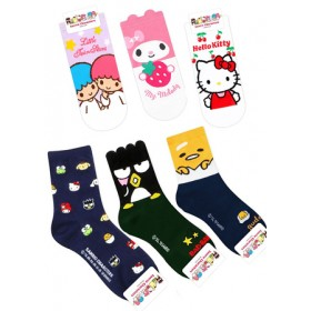 SANRIO CHARACTERS SOCKS- ASSORTED COLOURS