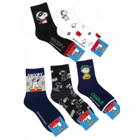 SNOOPY SOCKS- ASSORTED COLOURS