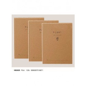 ECOMAZ Note Book A5 NB2025 Plain Inner Page 128sheets 100g