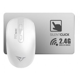ALCATROZ AIRMOUSE PRO 5C WIRELESS SILENT MOUSE (2 WAY DONGLE) WHITE