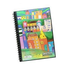 POP ARTZ  SKETCH BOOK A4 125 GSM 60 SHEETS PA-15C-A4-A