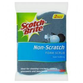 3M SCOTCH BRITE NON SCRATCH FOAM SCRUB 2PC PACK