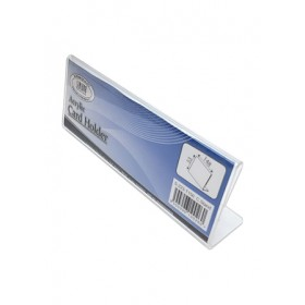 ACRYLIC NAME CARD STAND L-SHAPE 150X30X55mm S223-T150