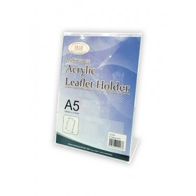 ACRYLIC CARD STAND A5V 150x75x215mm S205
