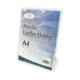 ACRYLIC CARD STAND A4V 215x100x302mm S208