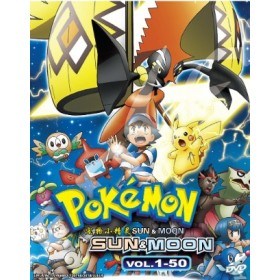 POKEMON SUN & MOON 宠物小精灵 SUN & MOON  VOL. 1 - 50 (4DVD)