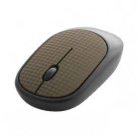 CLIPTEC RZS855L (LEATHER) WIRELESS SILENT MOUSE BROWN