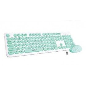 CLIPTEC RZK340 YOUNG AIR WIRELESS KEYBOARD MOUSE COMBO BLUE