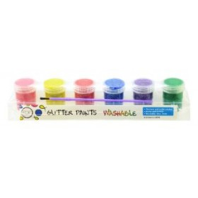 POP ARTZ GLITTER PAINT 6 COLOURS X 20ML