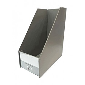 "POP BAZIC MAGAZINE HOLDER 5"" GREY"