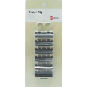 POP BAZIC BLACK BINDER CLIP 15MM 12 PIECES