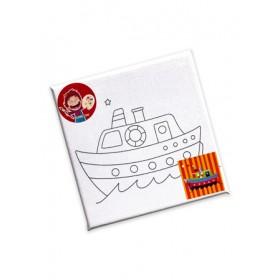 CANVAS DIY PAINTING SET 15X15CM -SHIP 5209