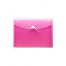 POP BAZIC EXPANDING FILE A4 13 POCKETS PINK