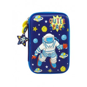 MULTI-FUNCTIONAL EVA DAZZLING ZIPPER CASE (BIG)- OUTER SPACE 9081-24
