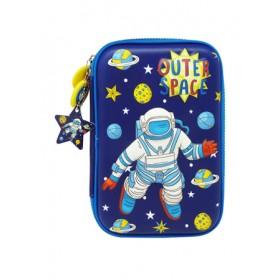 MULTI-FUNCTIONAL EVA DAZZLING ZIPPER CASE (BIG)- OUTER SPACE 9081-24