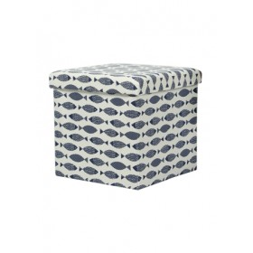 STORAGE BOX CUM CHAIR 38X38X38CM -FISH PL05S