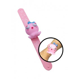 CLAP GLOWING WRISTBAND OCTOPUS - PINK