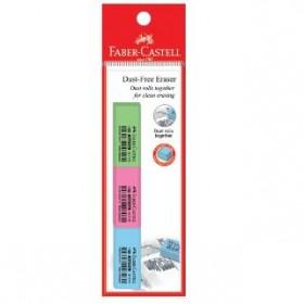 FABER-CASTELL DUST-FREE ERASER 3PCS PASTEL