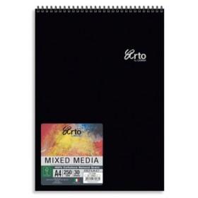 ARTO WIRE-O MIXED MEDIA A4 250GSM 30 SHEETS