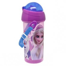 FROZEN WATER BOTTLE WITH STRAW 600ML