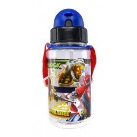 TRANSFORMER BOTTLE WITH STRAW 350ML