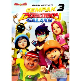 BOBOIBOY COLOURING VALUE PACK 3 (WITH COLOUR PENCILS)