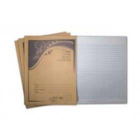 UNI Kraft Cover Exercise Book 80 Pages Small Square