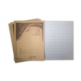 UNI Kraft Cover Exercise Book 80 Pages Big Square