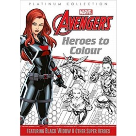 MARVEL AVENGERS HEROES TO COLOUR