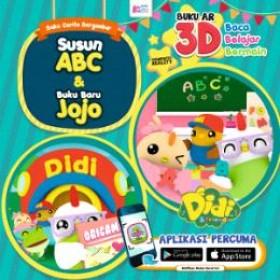 Didi & Friends: Susun ABC & Buku Baru Jojo (Buku AR 3D)
