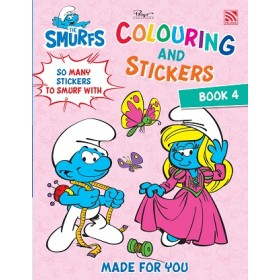 THE SMURFS:COLOURING&STICKERS BK 4