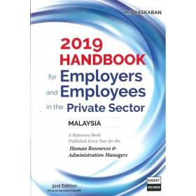 2019 HANDBOOK FOR EMPLOYERS AND EMPLOYEE