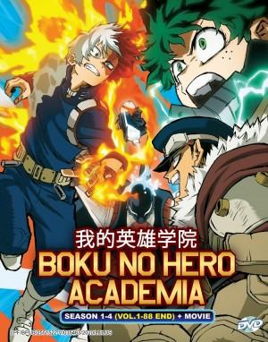 BOKU NO HERO ACADEMIA 我的英雄学院 SEASON 1-4 (VOL.1-88 END) + MOVIE(9DVD)