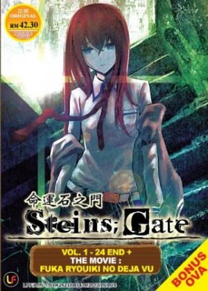 STEINS ; GATE 命運石之門 VOL. 1 - 24 END + THE MOVIE : FUKA RYOUIKI NO DEJA VU + OVA  (3DVD)