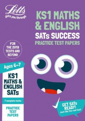KS1 Letts Maths and English SATs Practice Test Papers