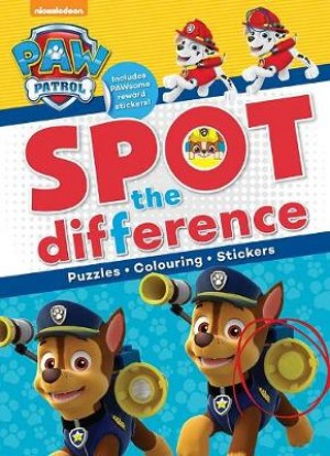 Nickelodeon PAW Patrol Spot the Difference: Puzzles, Colouring, Stickers