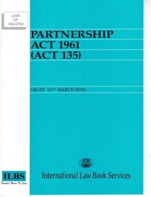 PARTNERSHIP ACT 1961 (ACT 135) (AS AT J