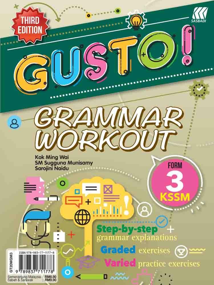 Tingkatan 1 Gusto Grammar Workout Kssm Third Edition