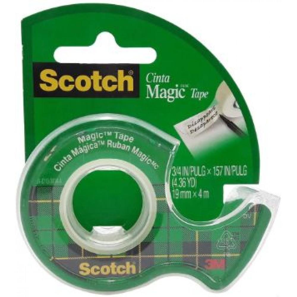 3M SCOTCH MAGIC TAPE 810 WITH TAPE DISPENSER 19MM X 4M