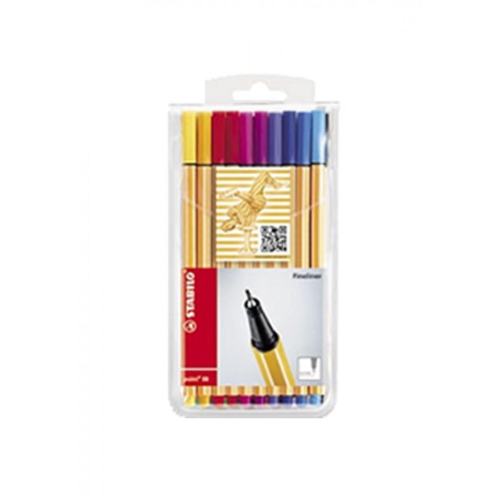 STABILO Fineliner Pen Point 88 - Wallet Of 20 Pieces