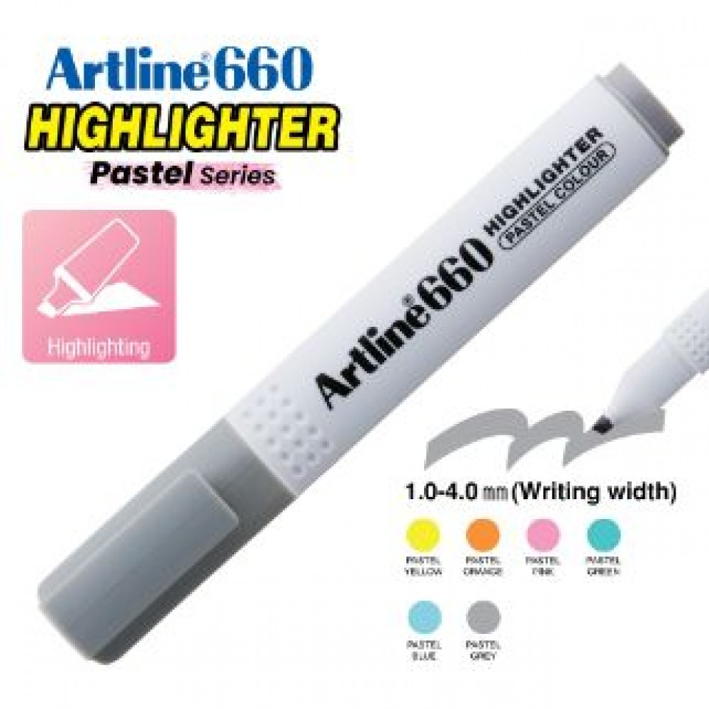 ARTLINE EK-660 PASTEL HIGHLIGHTER 1-4MM PASTEL GREY