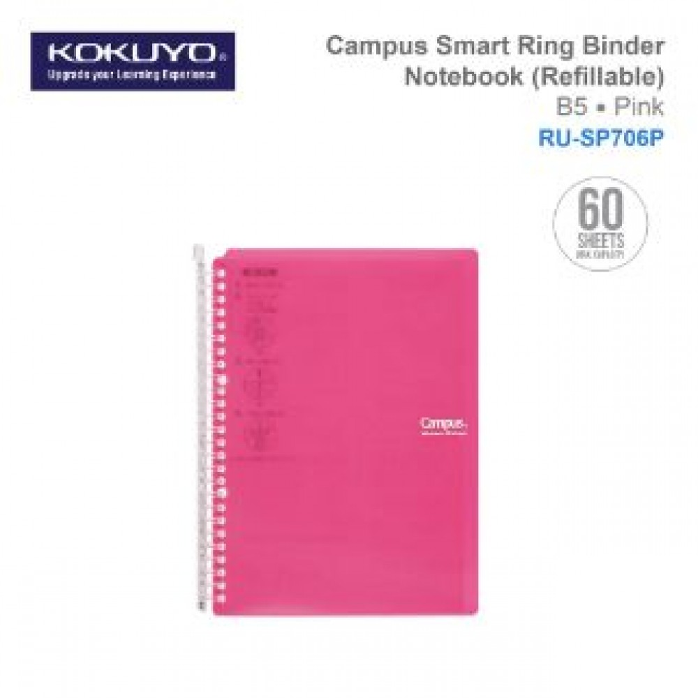 KOKUYO CAMPUS SMART RING BINDER NOTEBOOK B5 (REFILLABLE) RU-SP706P