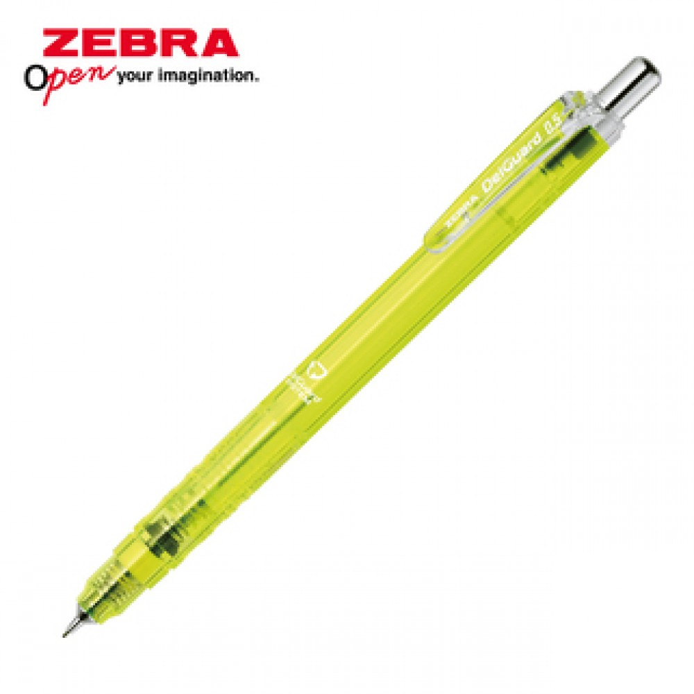 ZEBRA DELGUARD LIGHT MECHANICAL PENCIL 0.5MM CLEAR YELLOW