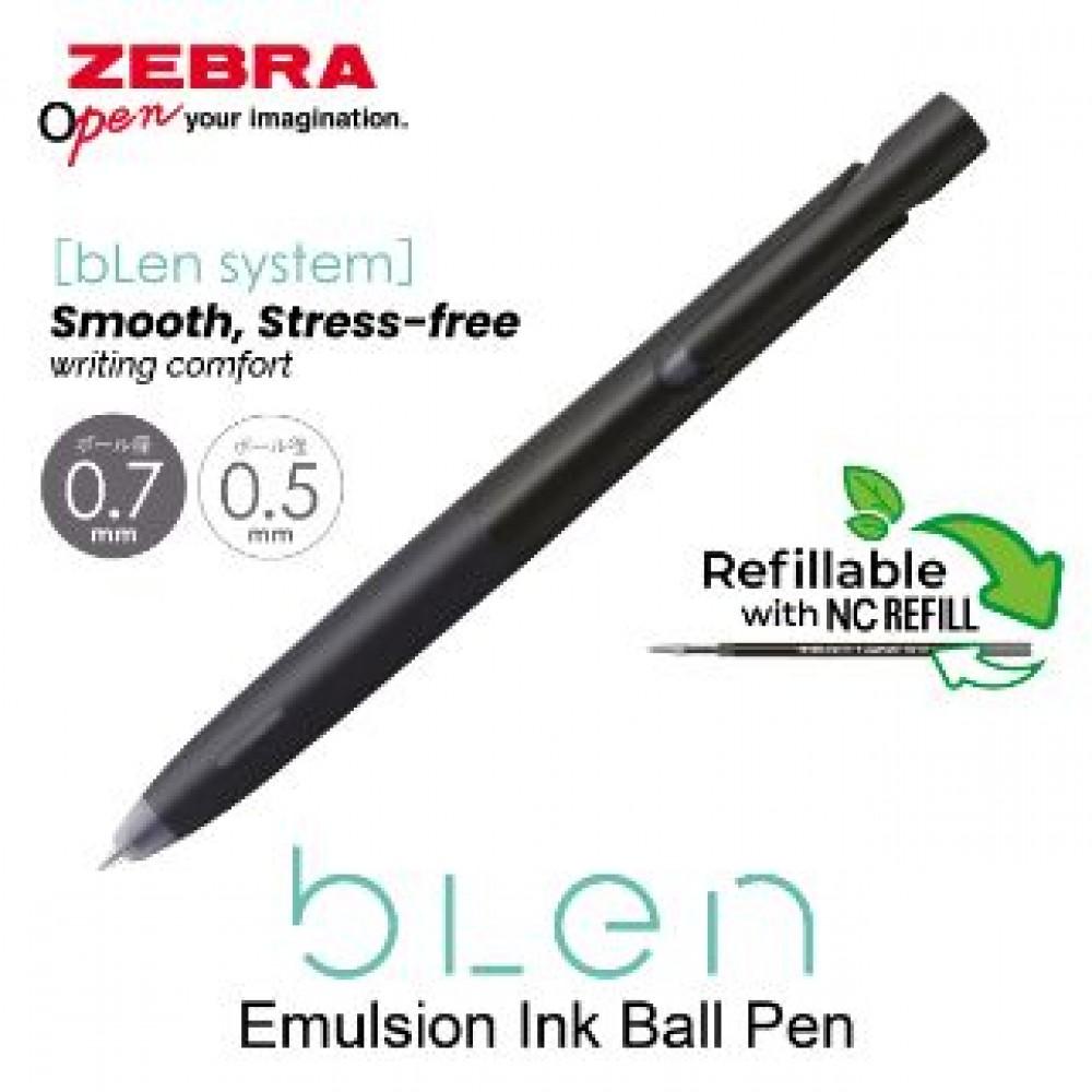 ZEBRA BLEN BALL PEN 0.5MM BLACK