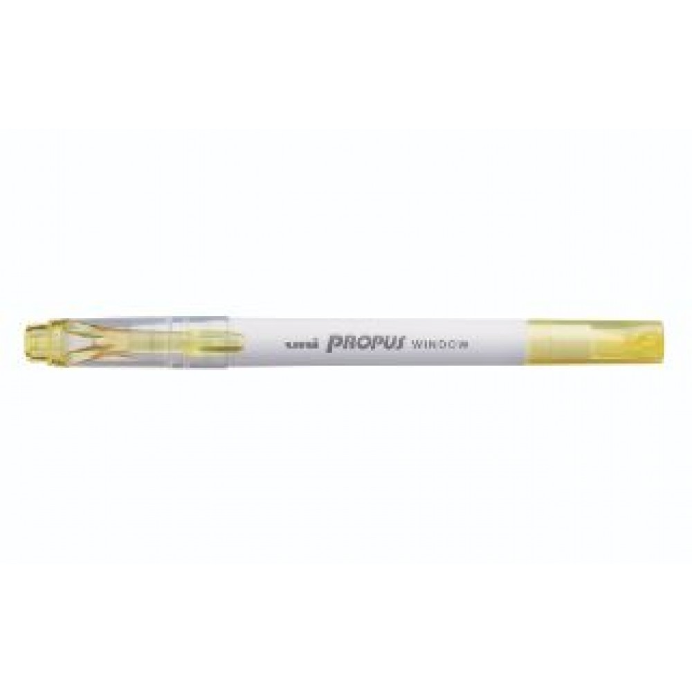 UNI PROPUS PUS-103T WINDOW HIGHLIGHTER DUAL TIP LIGHT YELLOW
